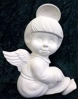 Engel Junge mit glattem Haar flach
