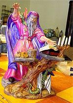 Zauberer Heix mit Tisch