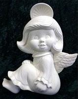 Engel Mädchen mit glattem Haar flach