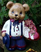 Teddy mit Rosen & Herz