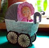Mädchen mit Kinderwagen