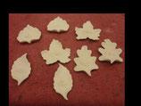 Herbstliche Blätter mit Gesicht