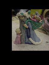 Nikolaus mit Kind und Sack