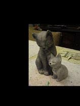 Katzenmama Alice mit Jungem Mao