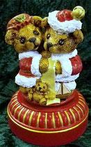 Weihnachts Teddy Pärchen Spieluhr