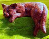 Schlafende Regalkatze Schnarchi