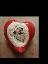 Herz 15 cm glasiert mit Nikolaus