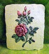 Wandkachel Rose