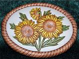 Plakette Sonnenblumen