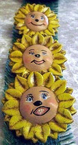 Sonnenblumen Kinder Köpfe