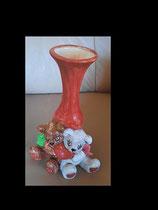 Teddy Vase glasiert