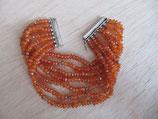Pulsera de cornalina naranja