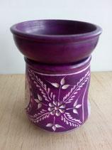 Quemador de aceites esencias color lila