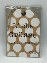 """Karte """"Liebe Grüsse zum Geburtstag"""""""