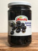 Schwarze Oliven Entsteint