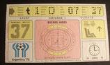 Fußball WM 1978  - Spiel 37 - Eintrittskarte - Spiel um Platz 3