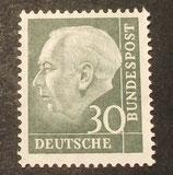 Bund 0259xv 30 Pf Heuss II