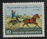 Bund 0160 Briefpostbeförderung Thurn und Taxis um 1852