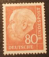 Bund 0264xv 80 Pf Heuss II