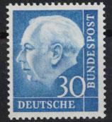 Bund 0187  30 Pf Heuss **