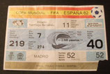 Fußball WM 1982  - Eintrittskarte - Finale - Ticket