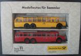 Brekina Serie 011  -  Postbusse MB 10000    Modellautos für Sammler - Deutsche Post
