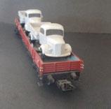Märklin MB L 3500 LKW  2x als Ladegut auf Niederbordwagen