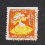 Vignette Tuberkulose 1955 rot og gestempelt 23.12.1955