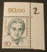 Bund 1304 Christine Teusch   50 Pf