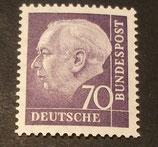 Bund 0263xw 70 Pf Heuss II