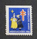 Vignette Tuberkulose 1955 blau og