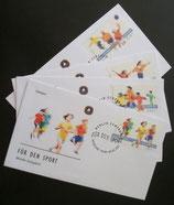 Bund 2165ff FDC Sportmarken auf FDC (4 Kuverts)