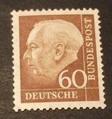 Bund 0262xw 60 Pf Heuss II