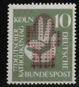 Bund 0239 10 Pf Katholikentag Köln 1956