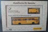 Brekina Serie 012  -  Postbus Magirus und VW T2    Modellautos für Sammler - Deutsche Post