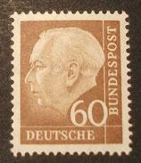 Bund 0262xv 60 Pf Heuss II