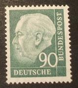 Bund 0265xv 90 Pf Heuss II