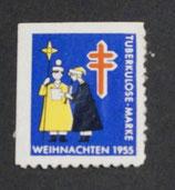 Vignette Tuberkulose 1955 blau l+og