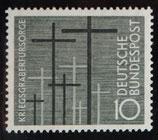 Bund 0248 10 Pf Kriegsgräberfürsorge 1956
