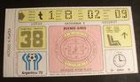 Fußball WM 1978  - Spiel 38 - Eintrittskarte - Finale - Ticket