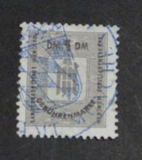 Gebührenmarke München gestempelt