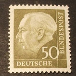 Bund 0261xw 50 Pf Heuss II