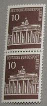 BLN 0286-0290 Brandenburger Tor - senkrechtes Paar **