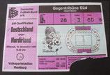 Fußball EM Qualifikation 1983  - Eintrittskarte - Deutschland-Nordirland