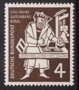 Bund 0198  4 Pf 500 Jahre Gutenberg Bibel  **