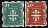 Bund 0235f Ev. Kirchentag 1956 (2 Werte)