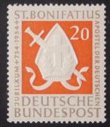 Bund 0199  20 Pf Bonifatius  **