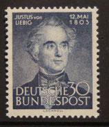 Bund 0166  30 Pf Justus von Liebig **