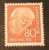 Bund 0264xw 80 Pf Heuss II