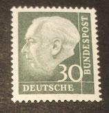 Bund 0259xw 30 Pf Heuss II